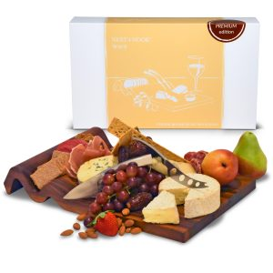 cheese board with 2 knives